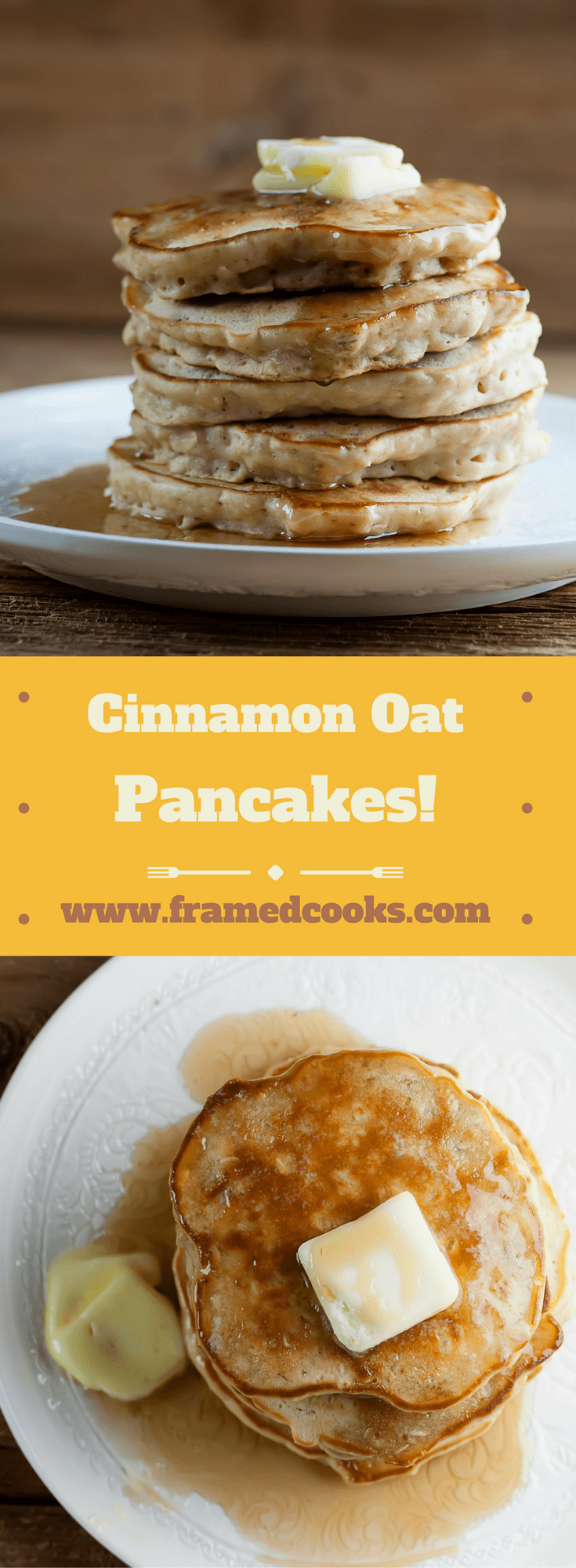 This recipe for cinnamon oat pancakes will take your breakfast to a whole new level.  Don't forget the Vermont maple syrup!