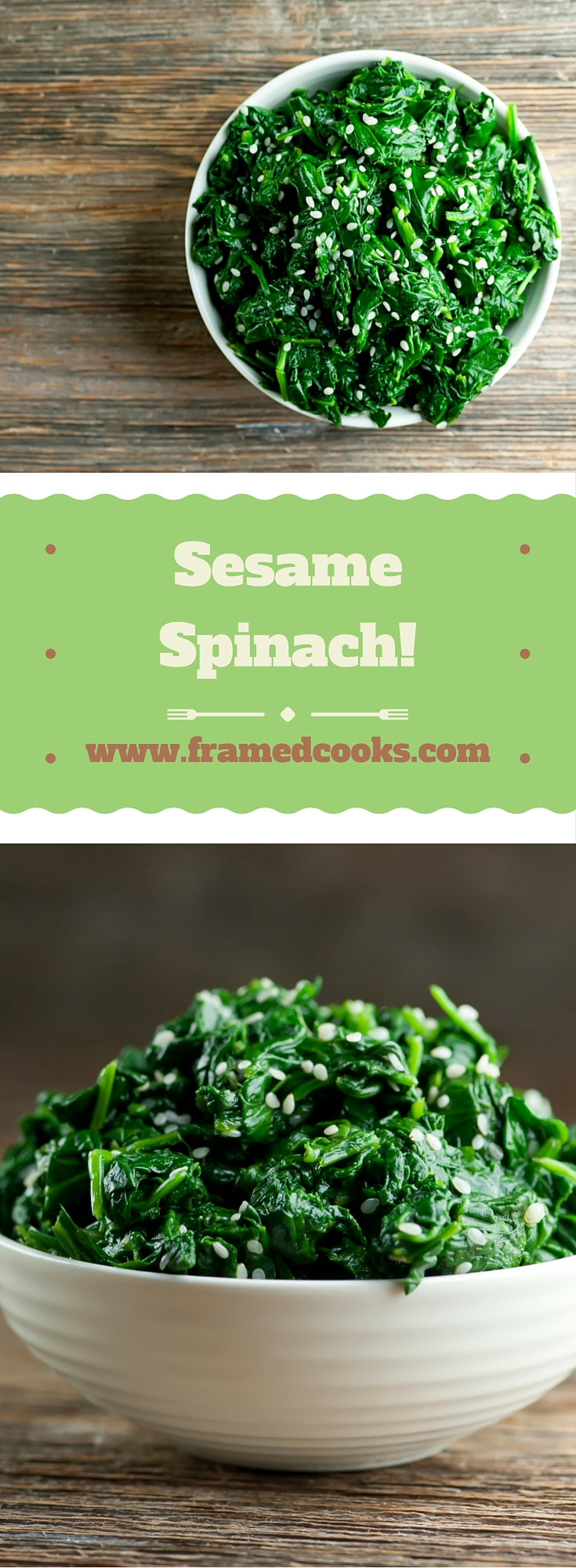 A simple recipe that turns spinach and sesame seeds into the perfect cool summer side dish.