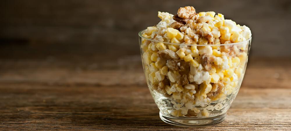 corn salad with walnuts