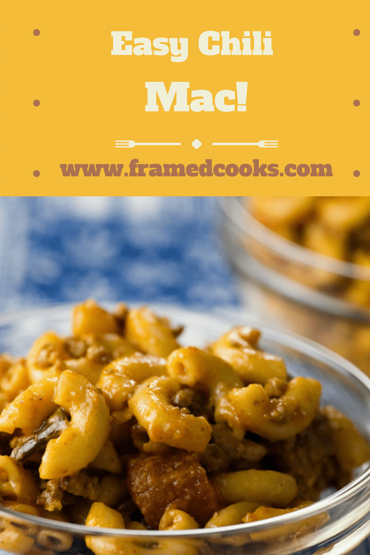 This easy recipe for chili mac is a mixture of pasta, ground beef, tomatoes, cheese and a secret ingredient that folks will never guess!