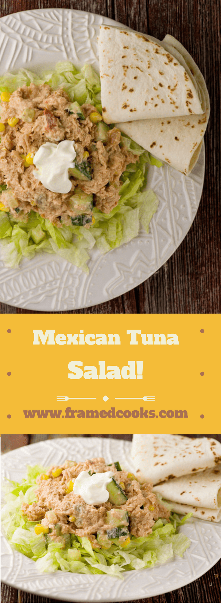 This easy recipe for Mexican tuna salad takes one of your favorite lunches and adds a little spice!