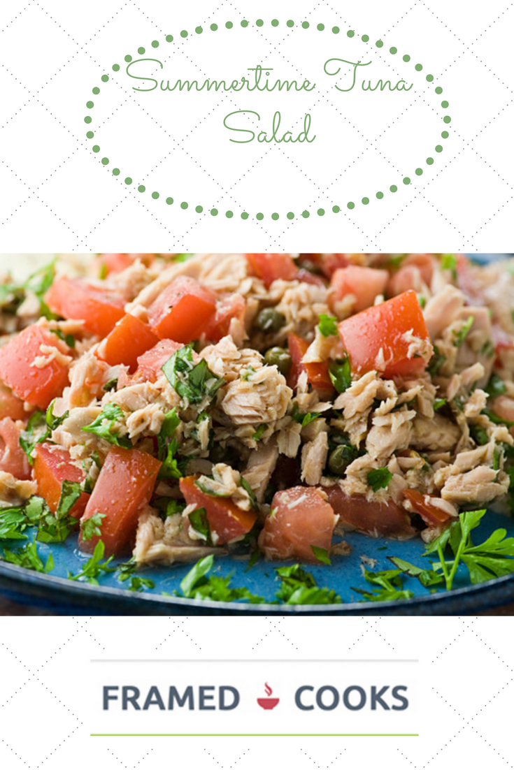 A quick and easy summertime tuna salad that lets you hold the mayo!