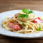 Pasta with Brie and Tomatoes