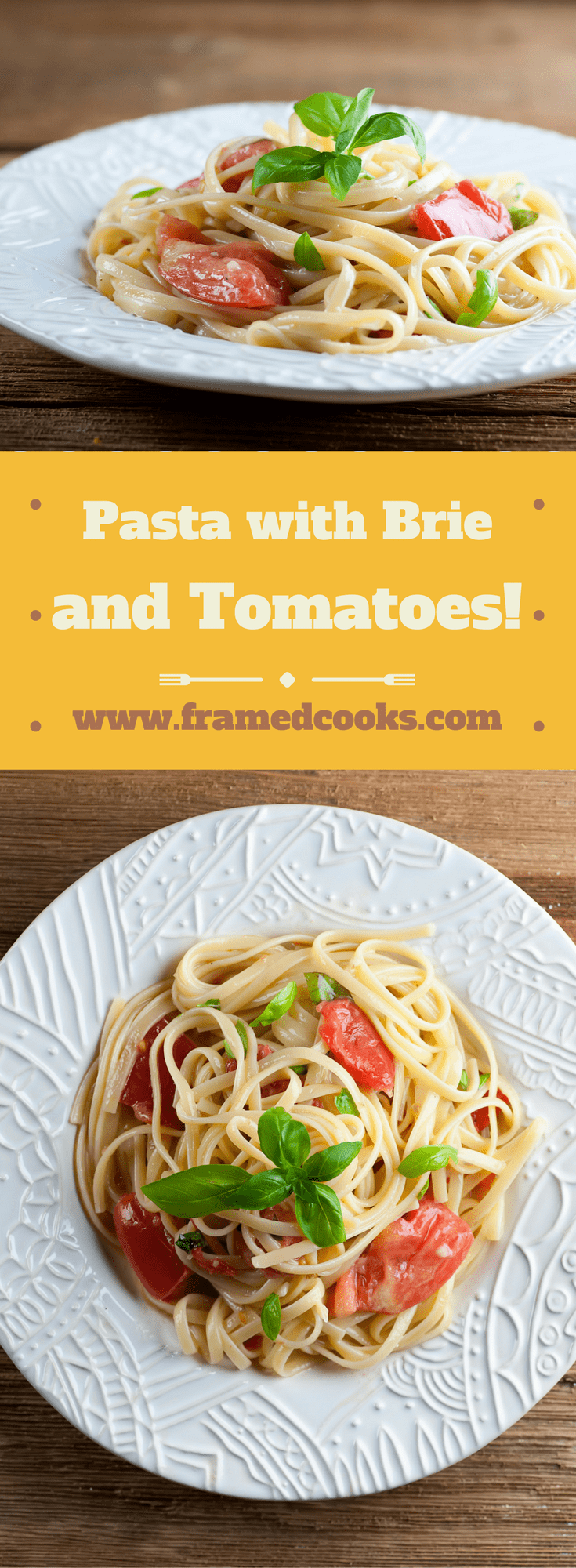 This easy recipe for pasta with Brie and tomatoes is a summertime classic, full of the flavors of cheese and basil and sweet tomato!