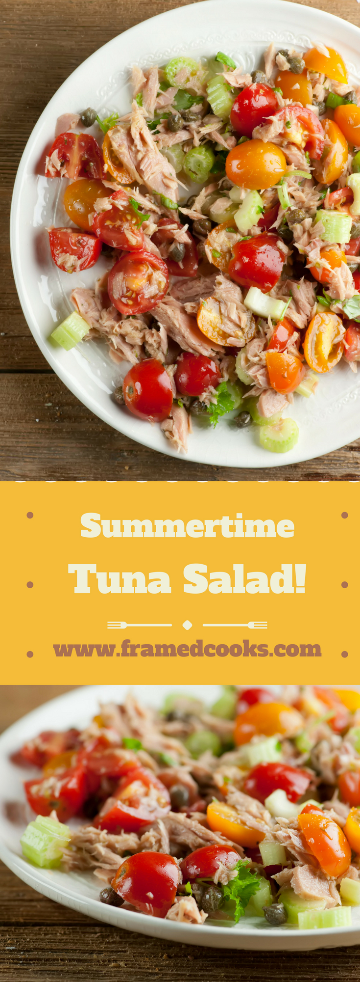 A quick and easy summertime tuna salad recipe that lets you hold the mayo!