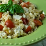 Risotto with Tomato, Basil and Mozzarella