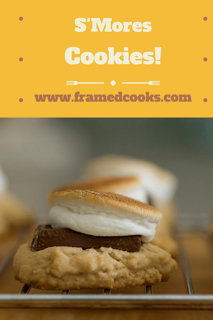 Your favorite campfire dessert, in cookie form! This easy recipe for S'mores cookies bakes up in your oven for some marshmallow chocolate deliciousness!