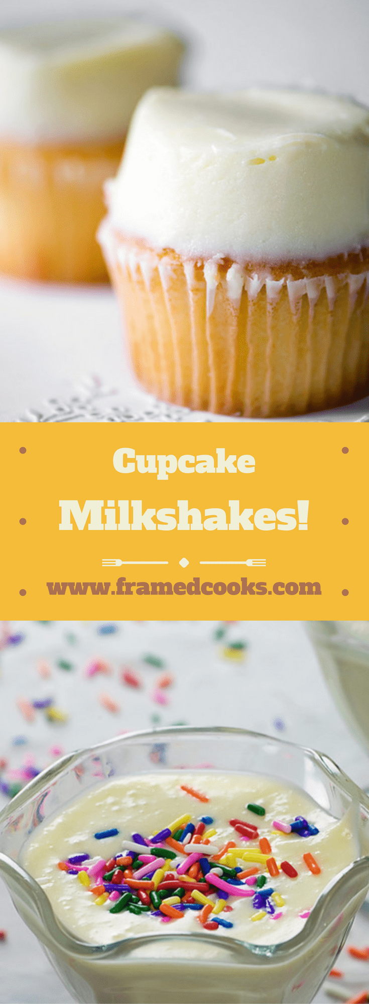 Love cupcakes?  Love milkshakes?  Here are not one but two super easy recipes for making cupcake milkshakes.  Welcome to your new favorite dessert!