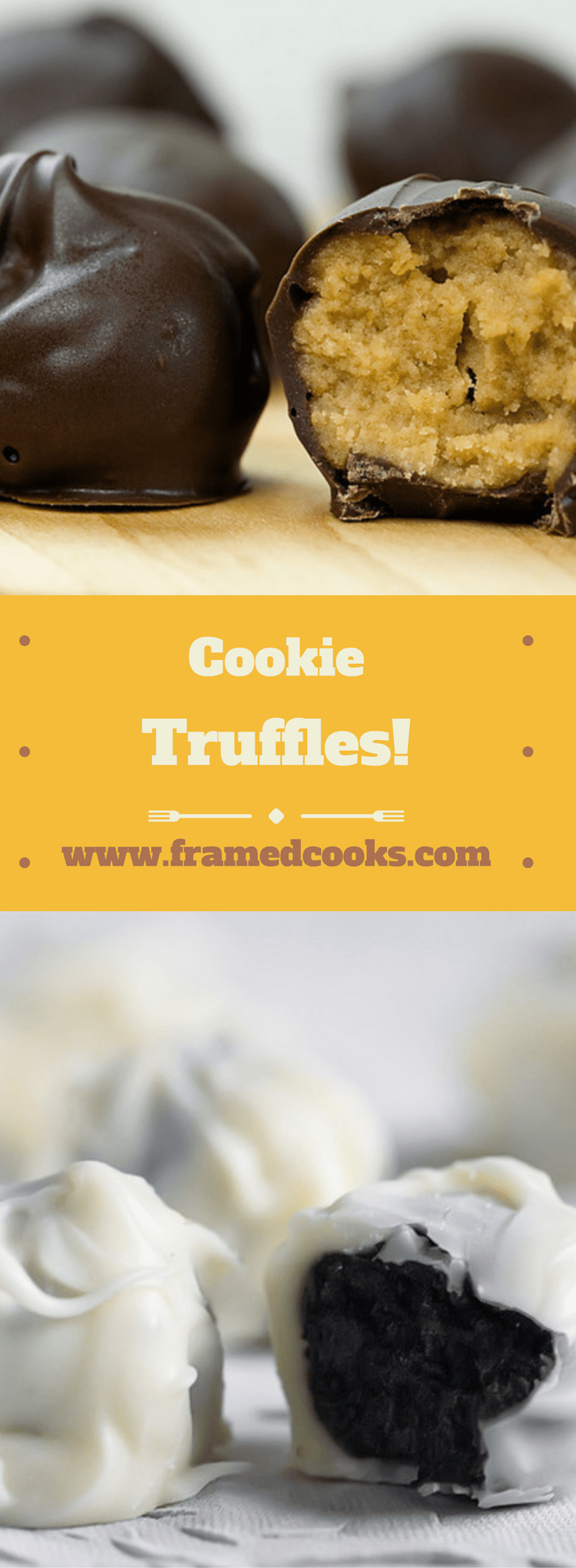Three ingredients.  One hour.  36 mind-blowing cookie truffles.  This is an easy dessert recipe you will want to make over and over!