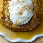 Pumpkin Apple Walnut Stuffed French Toast