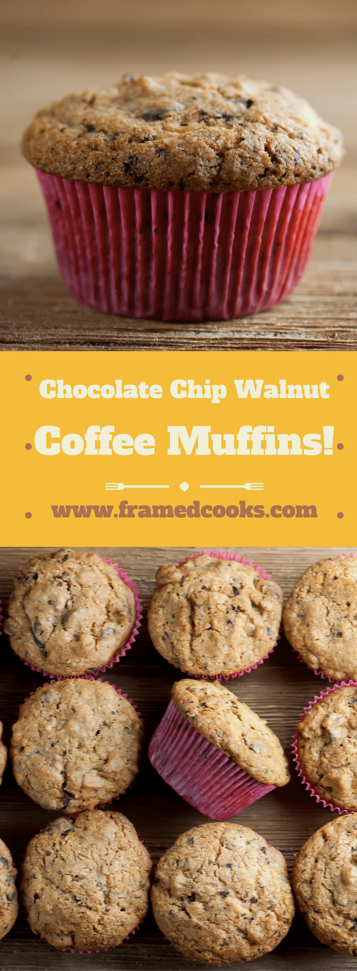 This recipe for coffee walnut chocolate chip muffins has all the good things in it!  Perfect for brunch, dessert or when you want a perfect snack.