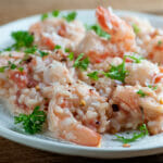 easy coconut shrimp risotto