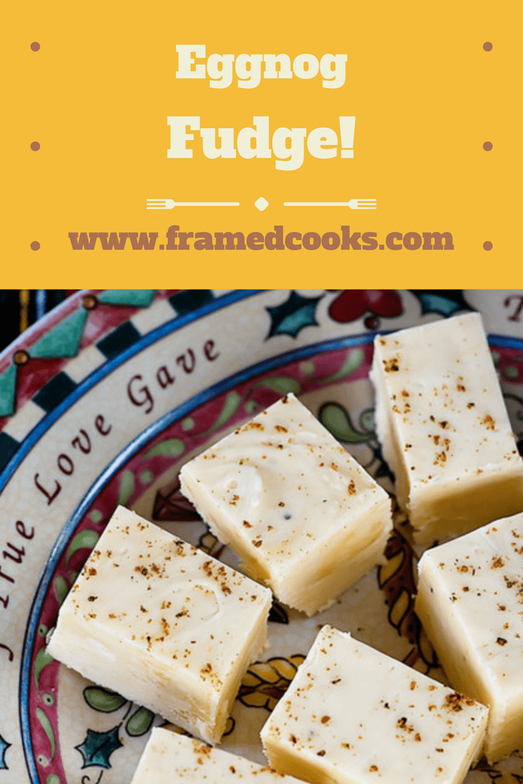 This easy recipe for eggnog fudge is the perfect sweet treat for the holidays, and also makes a perfect last minute gift for that special someone!