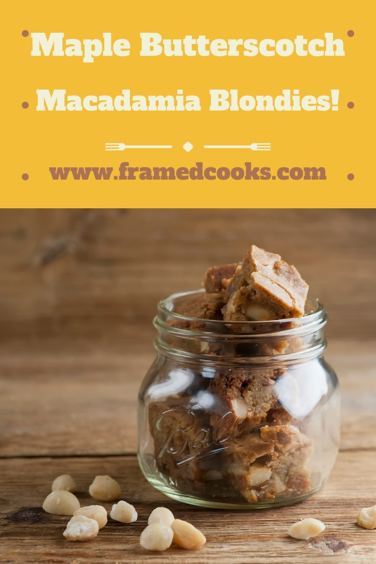 This delectable recipe for maple butterscotch macadamia blondies is a sweet alternative to the traditional brownie. Bet you can't eat just one!