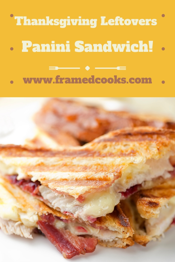 Is there ANYTHING better than Thanksgiving leftovers? Especially when they are turned into this delectable turkey, cranberry, Brie and bacon panini.