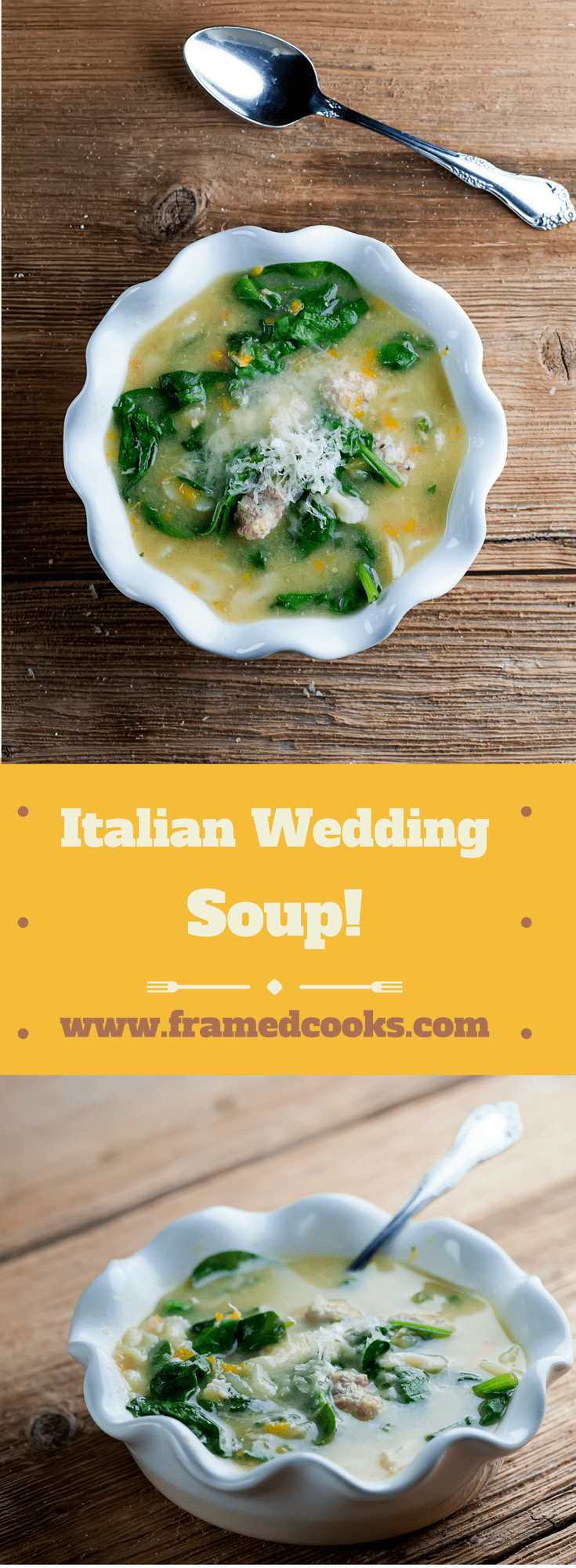 Nothing says true love like a nice hot bowl of Italian wedding soup.  Use this easy recipe to make some for your sweetheart today!