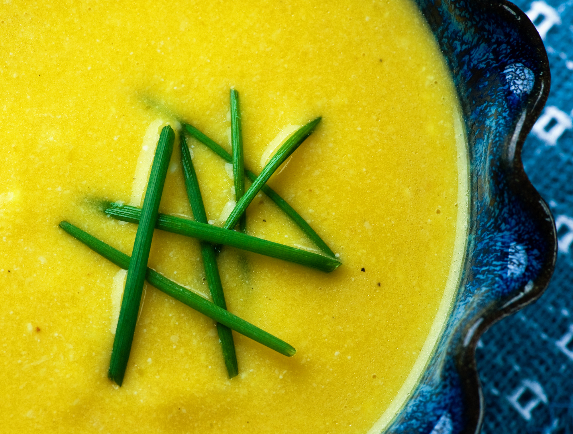 butternut squash soup with cheese