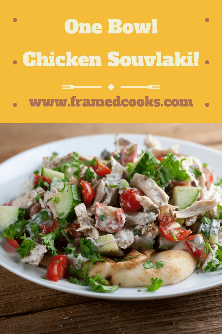 What's better than chicken souvlaki? Chicken souvlaki all in one easy to make bowl recipe!