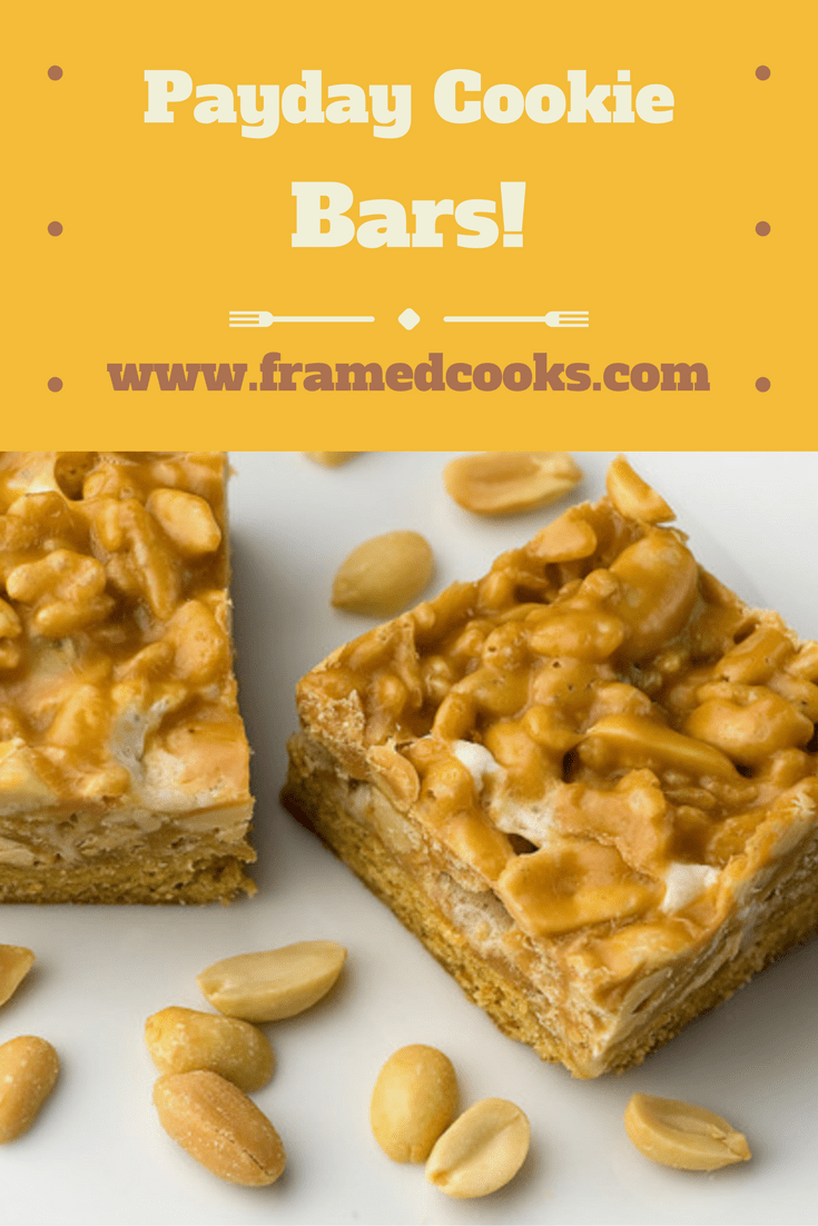 If you love Payday candy bars, here's a Payday cookie bars version just for you! This easy recipe is full of peanut butter and marshmallow deliciousness!