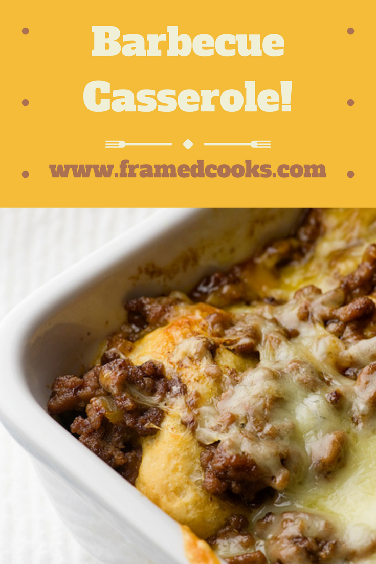 Turn barbecue into a casserole that the whole family will love with this easy barbecue casserole recipe!