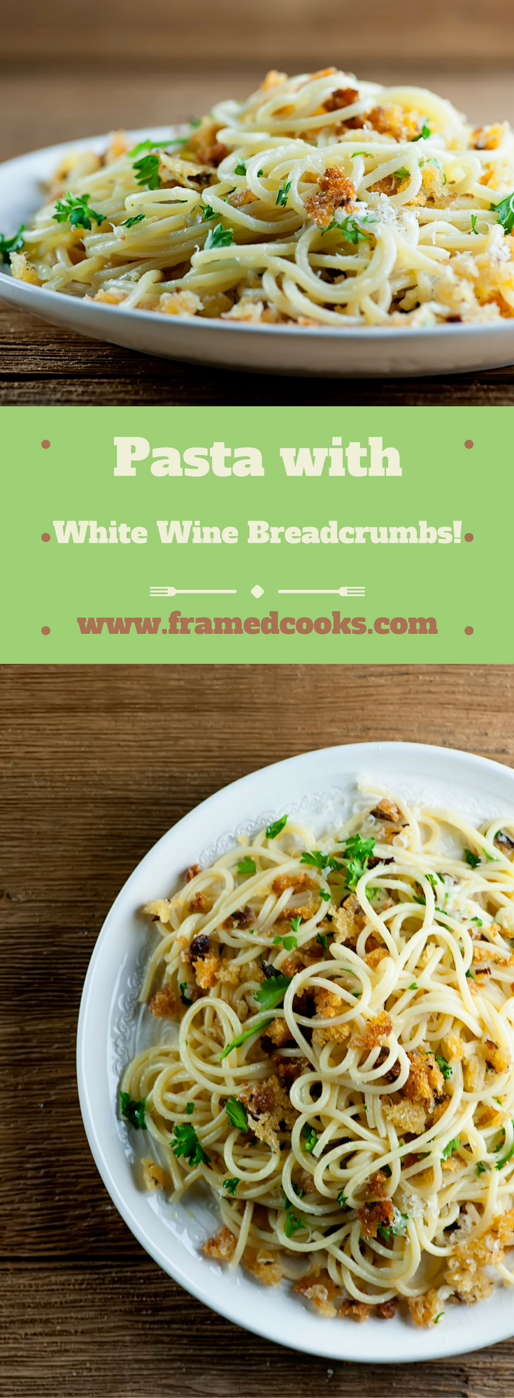 It's amazing what some garlic and white wine breadcrumbs can do for spaghetti...welcome to your favorite new comfort food recipe!