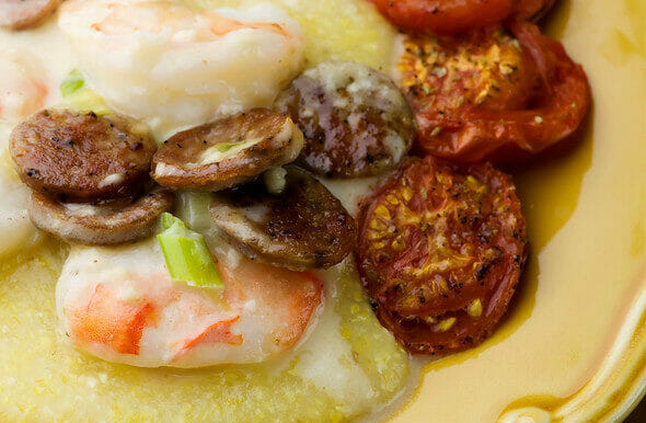 Shrimp and Andouille Sausage with Grits