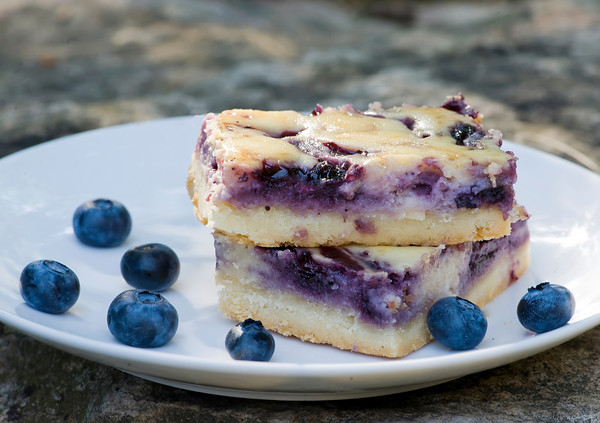 Blueberry Cheesecake Squares Framed Cooks
