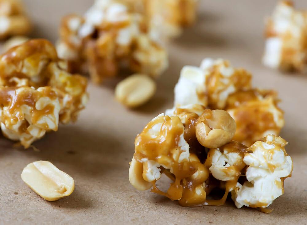 easy peanut butter popcorn