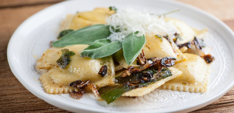 Ravioli with Brown Butter and Sage