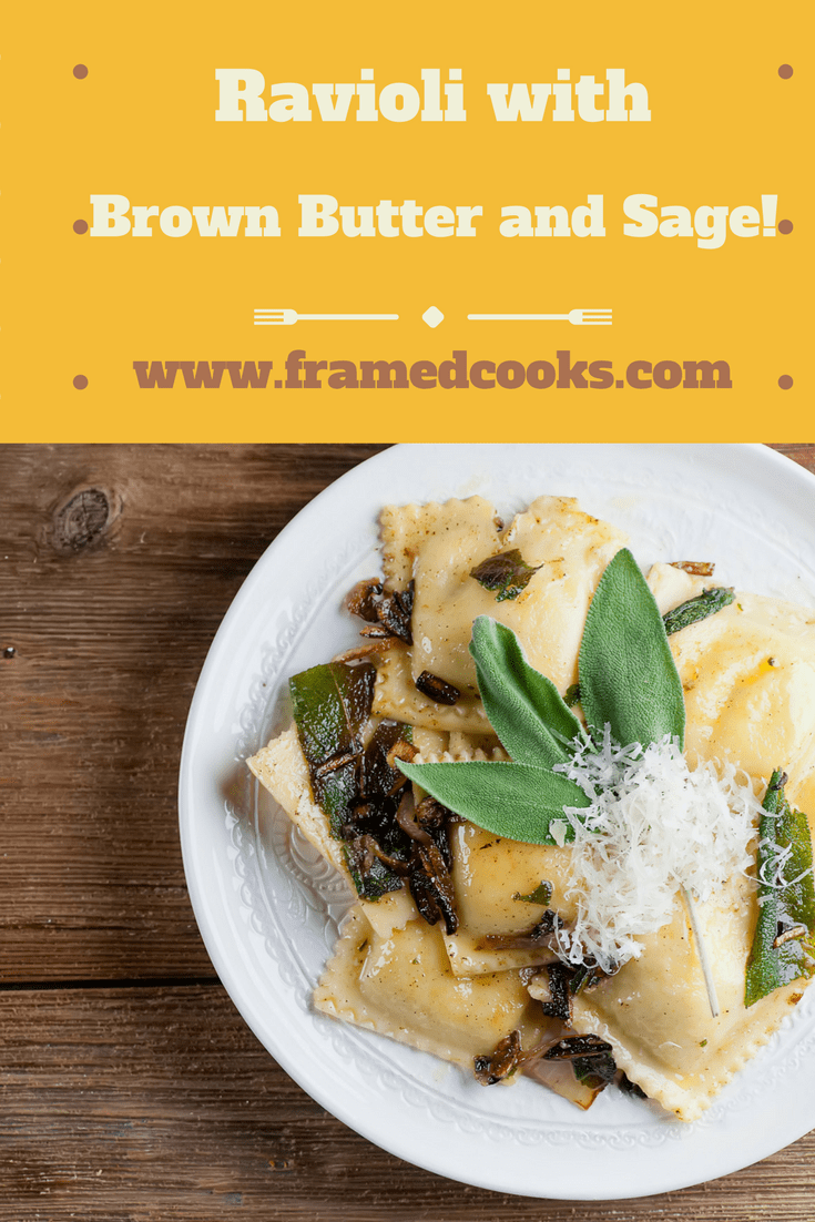 This easy recipe for ravioli with brown butter and sage is a great way to use those fresh summer herbs in a delicious pasta dinner.