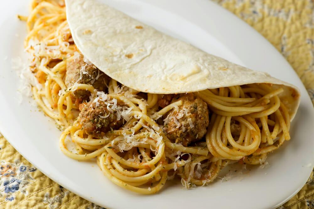 Spaghetti Tacos Framed Cooks