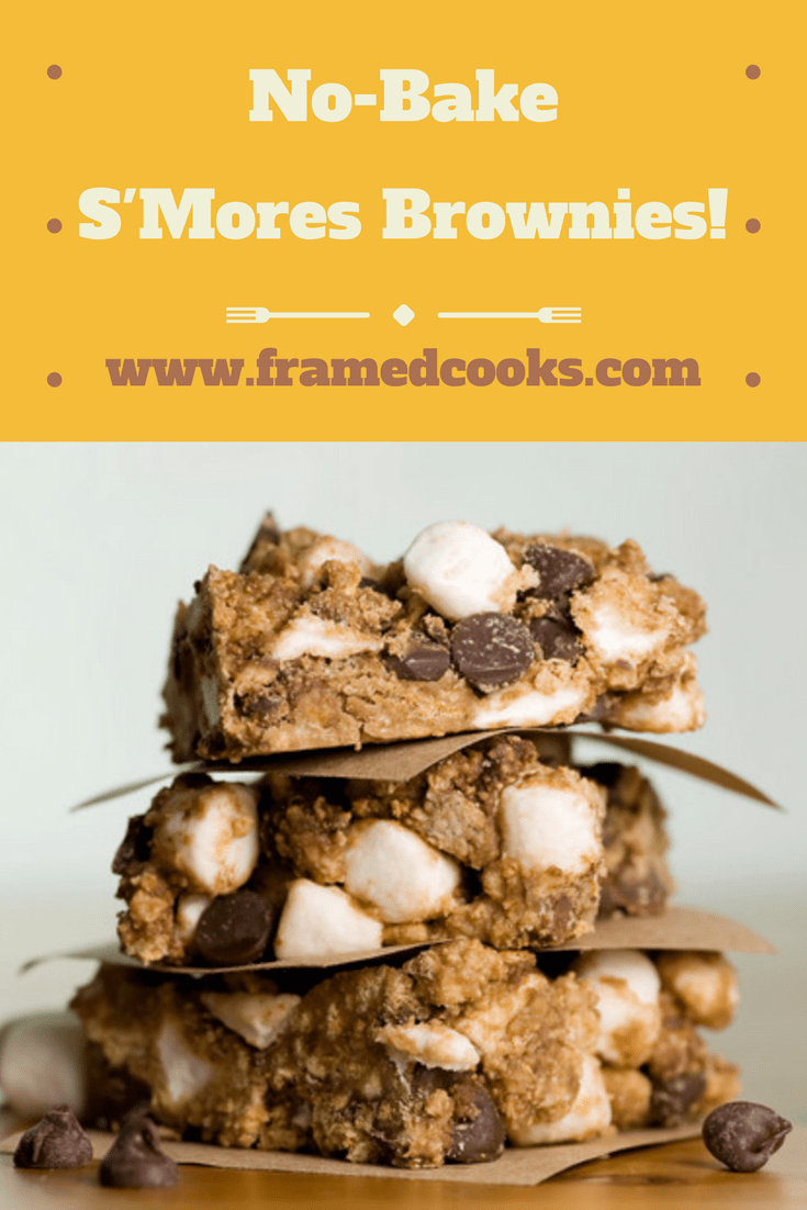 This easy recipe for no bake s'mores brownies is everything you hope and dream it is, all in one delicious chocolate marshmallow dessert!