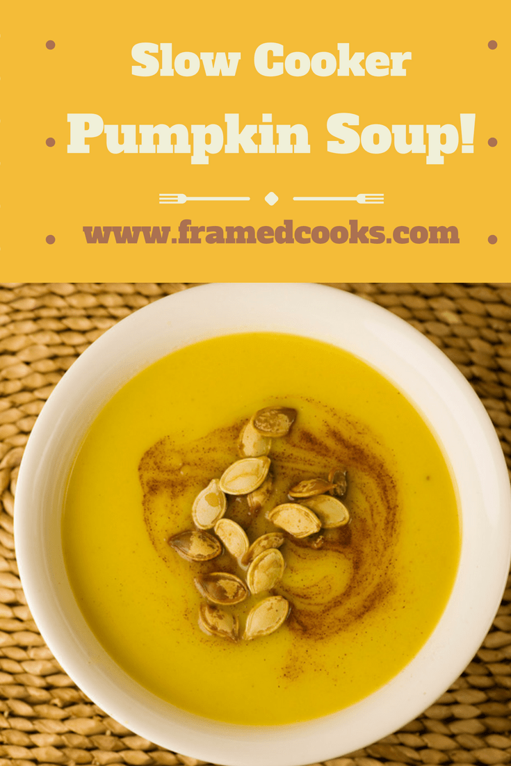 What better way to welcome in fall than with some pumpkin slow cooker soup!  Grab a sugar pumpkin and your slow cooker and let's get started!
