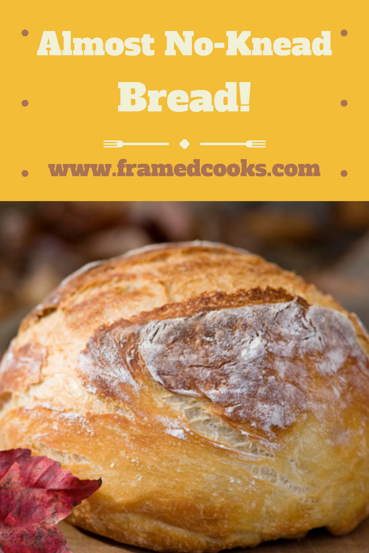 Never again be afraid of making delicious homemade bread with this almost no knead recipe!