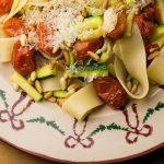Pappardelle with Zucchini, Roasted Tomatoes and Fresh Rosemary