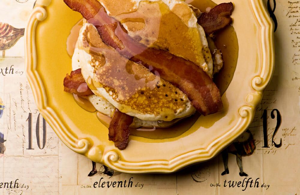 easy bacon pancakes