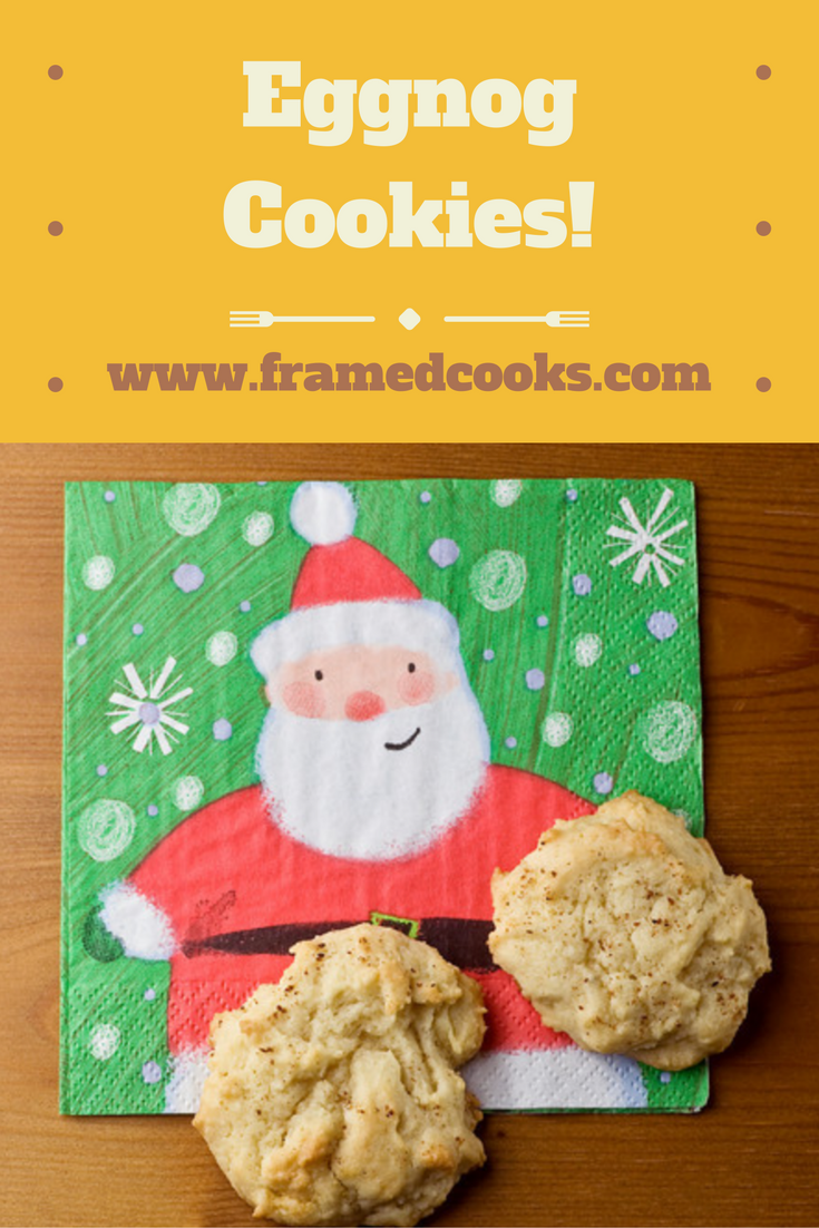 Turn your favorite holiday drink into a sweet treat with this recipe for eggnog cookies!