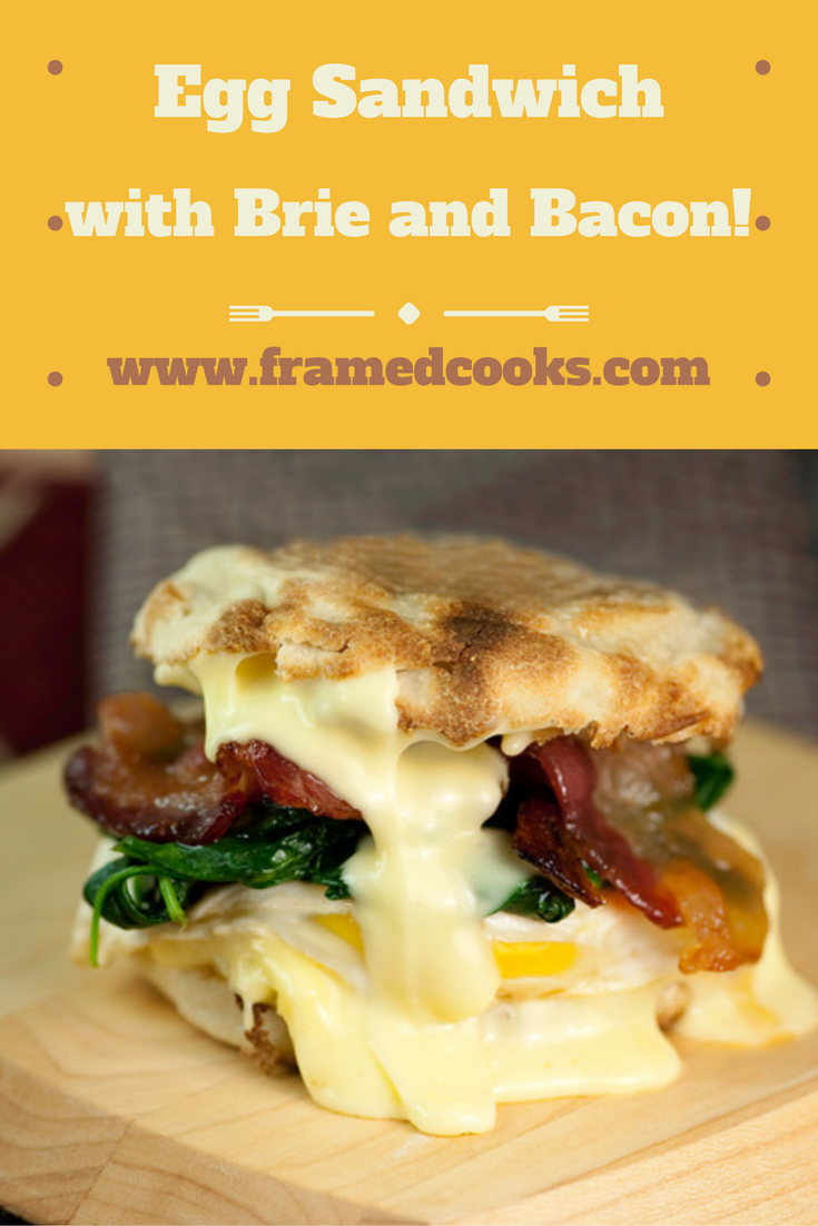 This recipe for an Egg Sandwich with Spinach, Brie and Maple Bacon makes an egg sandwich like no other!