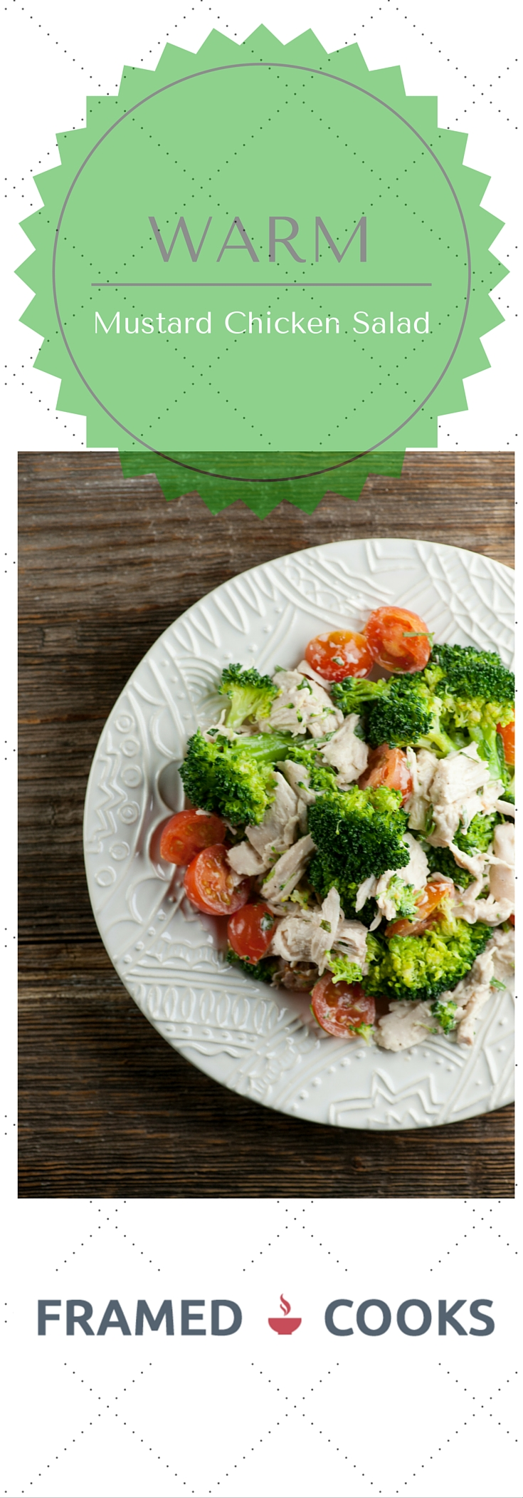 This warm mustard chicken salad recipe is perfect for when you are craving salad on a chilly day!