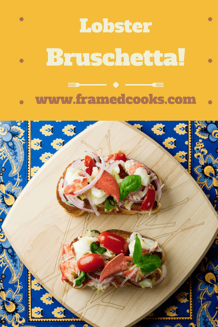 This easy recipe for lobster bruschetta is the perfect fancy appetizer or light lunch.  Full of seafood and vegetable goodness!