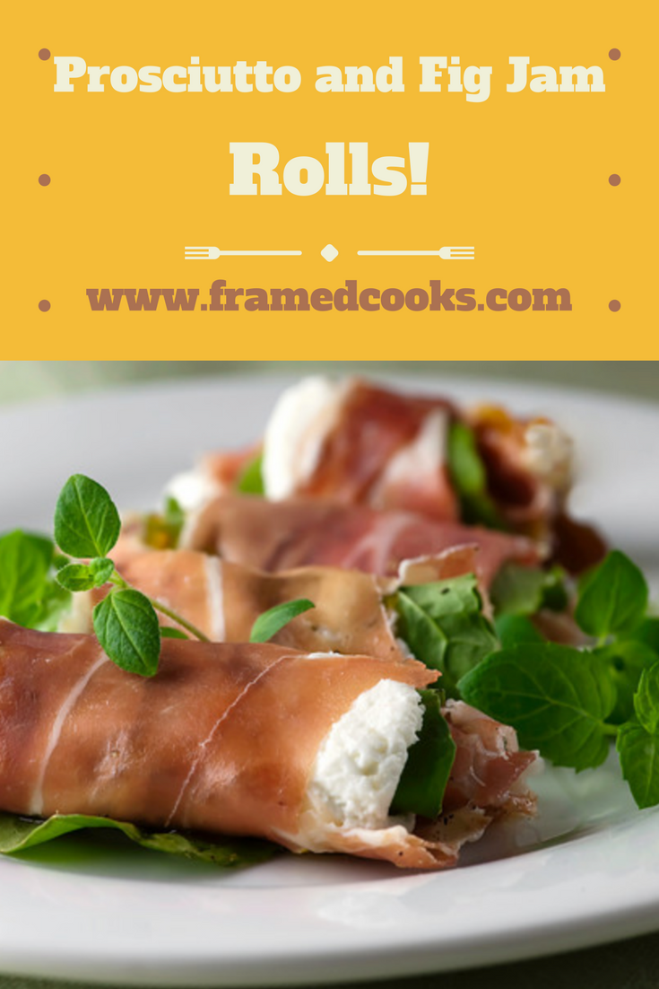 This easy appetizer pairs prosciutto, goat cheese and fig jam in a perfect blend of tastes!