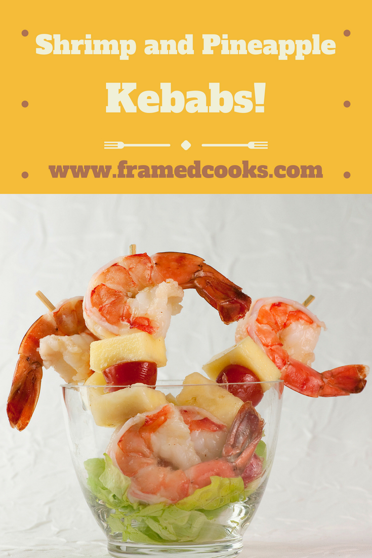 Shrimp and pineapple kebabs with lime vinaigrette are a perfect combo of sweet and salty in this easy, summery recipe! A refreshing appetizer or light supper.
