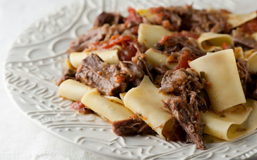 shredded short ribs with pasta recipe