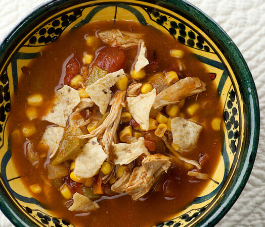 Slow Cooker Chicken Tortilla Soup - Framed Cooks