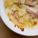 Ham and Cheese Farfalle