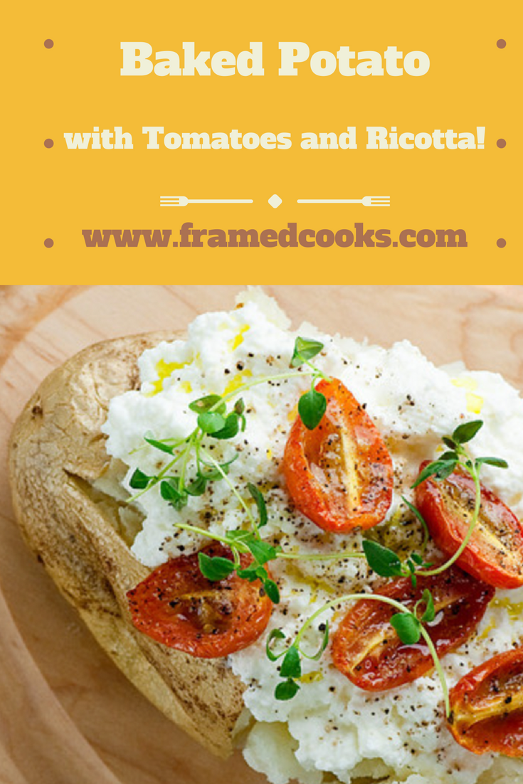 There is something so comforting about a baked potato, especially one made with cheese! Try this easy recipe for baked potato with ricotta and tomatoes.
