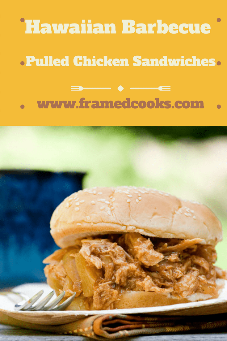 These Hawaiian Barbecue Pulled Chicken Sandwiches cook in the slow cooker all day long so you can come home to tropical deliciousness!
