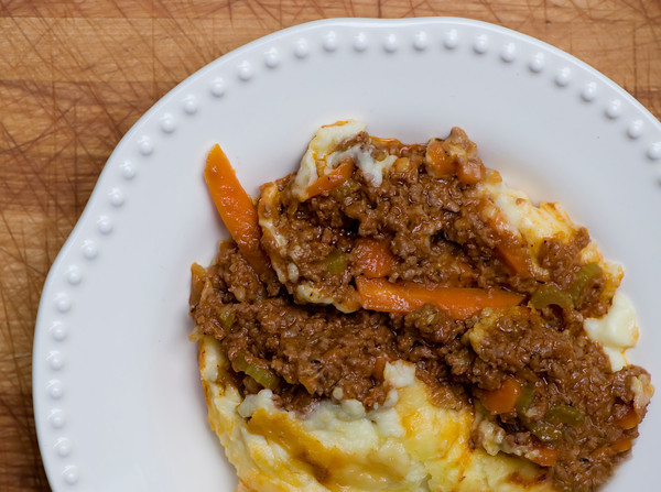 Cheddar Topped Cottage Pie