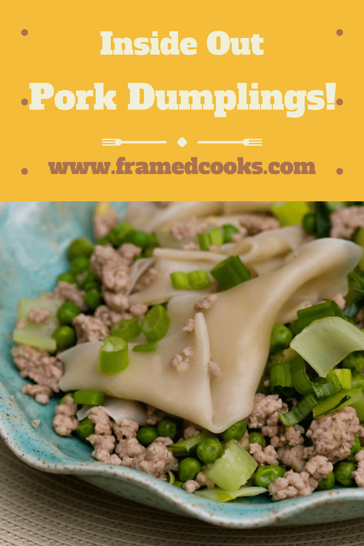 This recipe for inside out pork dumplings is quick, easy and even more delicious than the traditional kind of dumpling! A quick and fun supper.