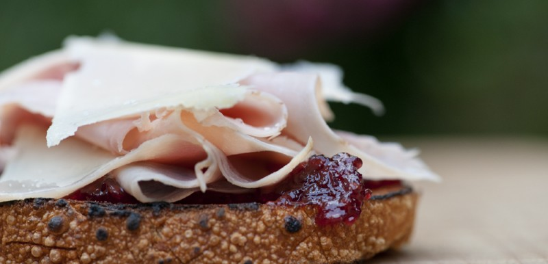 Ham and Parmesan Sandwiches with Jam